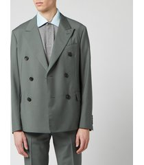 lanvin men's light unlined db jacket - racing green - it 48/m