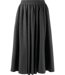 valentino pre-owned 1980's godet midi skirt - grey