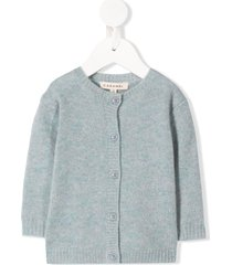 caramel waterloo cashmere cardigan - blue
