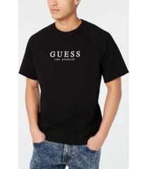 guess men's short-sleeve raglan sweatshirt