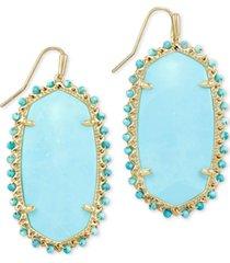 kendra scott gold-tone beaded danielle drop earrings