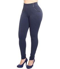 calça legging estigma moda skinny marinho