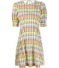 baum und pferdgarten aurelia swing checked dress - neutrals