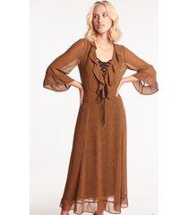 długa sukienka w panterkę