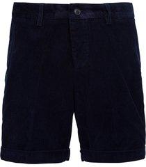 ami alexandre mattiussi blue ribbed bermuda shorts with logo
