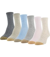 gold toe women's nep 6pk short crew socks