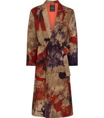 canessa tie-dye belted long jacket - multicoloured
