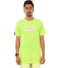 camiseta kings sneakers  letter neon verde - verde - masculino - dafiti