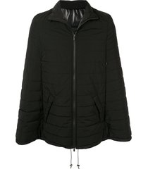 fumito ganryu padded cape jacket - black