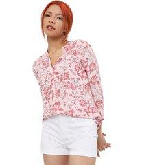 blusas rosas color beige, talla s