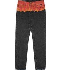 marcelo burlon bleach flames jeans