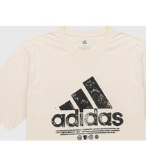 camiseta blanco hueso-negro adidas performance graphic tee
