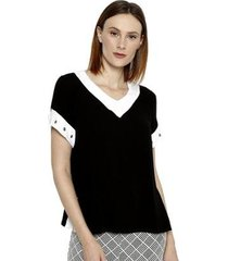blusa energia fashion manga curta plus size feminina - feminino
