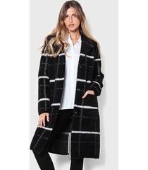 abrigo wados negro - calce holgado