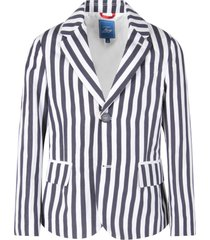 fay white and blue boy jacket with stripes