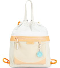 cole haan women's nylon drawstring backpack - vibrant orange