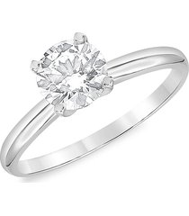 badgley mischka women's 14k white gold & 2 tcw lab-grown diamond solitaire engagement ring/size 7 - size 7