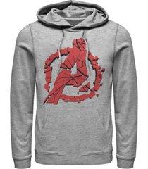 marvel men's avengers endgame shattered logo, pullover hoodie