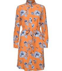 d1. marine paisley shirt dress jurk knielengte oranje gant