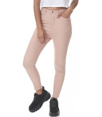 jeans color super high rise skinny mujer rosa corona