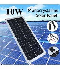 barcos panel 10w 5v 12v cargador de batería solar monocristalino rv autocaravana - balck