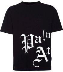 black and white gothic logo t-shirt
