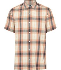 mens pink and white check revere shirt