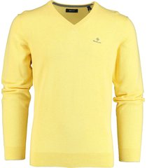 gant pullover v-hals geel katoen rf 8030542/798