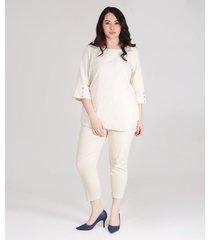 pantalon mujer capri unicolor