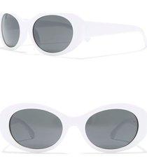 women's bp. 50mm retro oval sunglasses - white