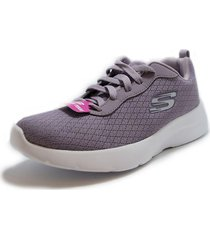 tenis skechers dynamight 2 0-eye to eye charcoal/coral  12964/cccl