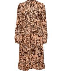 mila dress knälång klänning brun nué notes