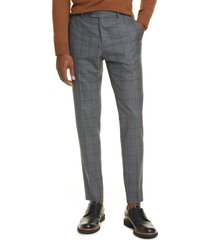 men's eidos flat front windowpane wool dress pants