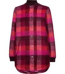 check woods jacket wollen jack jack roze becksöndergaard