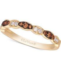 le vian chocolatier diamond band(1/5 ct. t.w.) in 14k gold