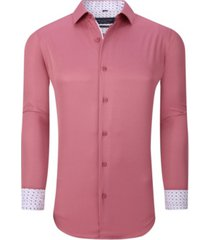 men's solid slim fit wrinkle free stretch long sleeve button down shirt
