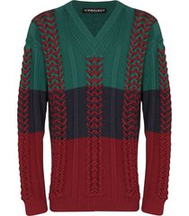 y/project braid knitted sweater - green