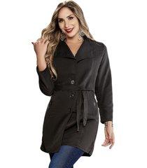abrigo lauren negro  para mujer croydon
