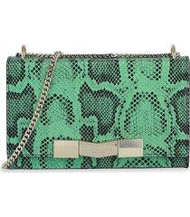 bruno magli women's chiseled snake embossed shoulder bag - mint