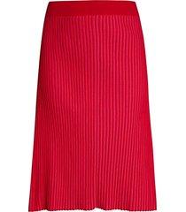 pure navy women's plaited midi skirt - dark berry - size xs