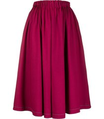marni denim midi skirt - pink
