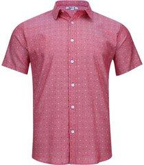 camisa estampada color rojo, talla xs