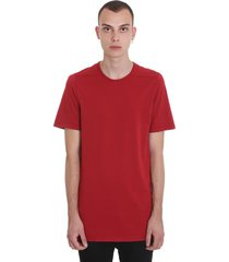 drkshdw level tee t-shirt in red cotton