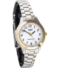 reloj casio mtp_1128g_7br multicolor acero inoxidable