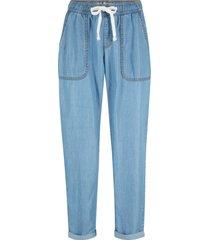 jeans cropped in tencel™ lyocell (blu) - john baner jeanswear