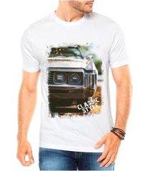 camiseta criativa urbana carro antigo classic style masculina