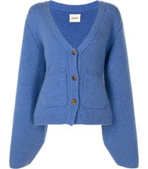 khaite scarlet cashmere cardigan - blue