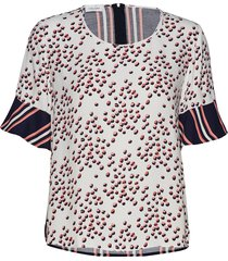 blouse short-sleeve t-shirts & tops short-sleeved creme gerry weber