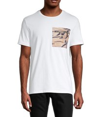 roberto cavalli sport men's embroidered-logo stretch-cotton tee - white - size l