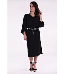 ganni jurkje f4553 zwart